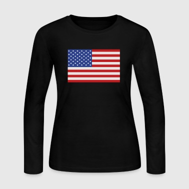United States of America Flag - Women's Long Sleeve Jersey T-Shirt