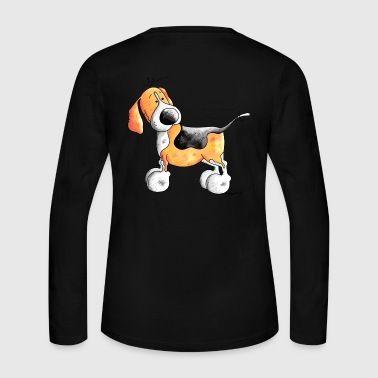 Funny Beagle - Dog - Dogs - Women's Long Sleeve Jersey T-Shirt