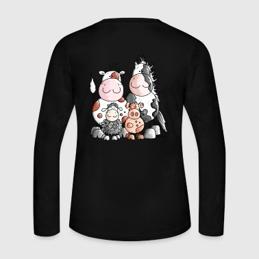 Funny Farm Animals - Women's Long Sleeve Jersey T-Shirt