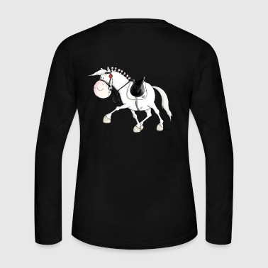 Dressage - Horse - Horses - Warmblood - Women's Long Sleeve Jersey T-Shirt