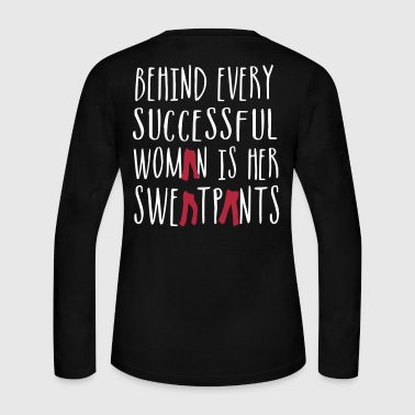Behind Every Successful Woman - Country Closet - Women's Long Sleeve Jersey T-Shirt