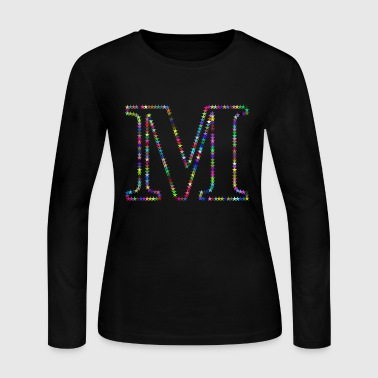 Letter M - Women's Long Sleeve Jersey T-Shirt
