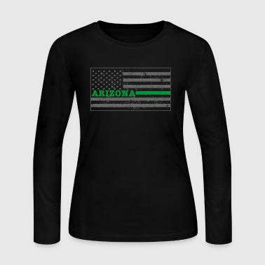 Arizona Military Border Patrol Shirt Thin Green Line - Women's Long Sleeve Jersey T-Shirt
