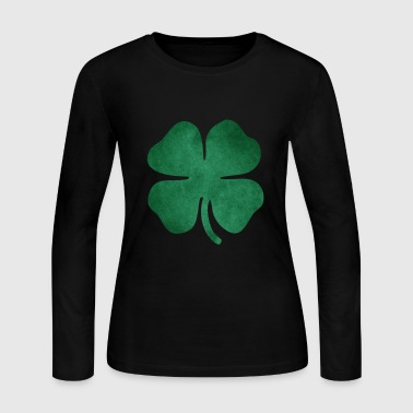 Grungy Shamrock - Women's Long Sleeve Jersey T-Shirt