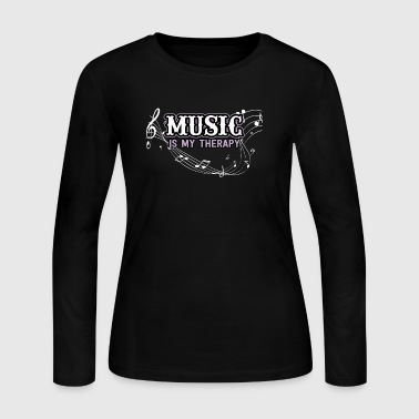 Music is my therapy - Women's Long Sleeve Jersey T-Shirt