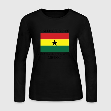 Ghana Accra West LDS Mission Called to Serve - Women's Long Sleeve Jersey T-Shirt