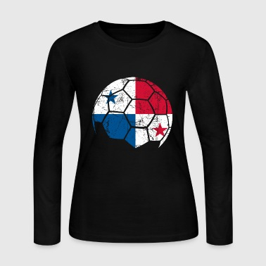 Panama Soccer Football Ball - Women's Long Sleeve Jersey T-Shirt