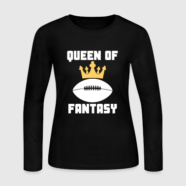 Queen Of Fantasy Football Funny - Women's Long Sleeve Jersey T-Shirt