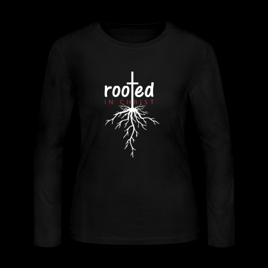 ROOTED IN CHRIST - Women's Long Sleeve Jersey T-Shirt
