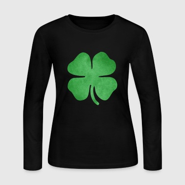 Shamrock Grungy - Women's Long Sleeve Jersey T-Shirt