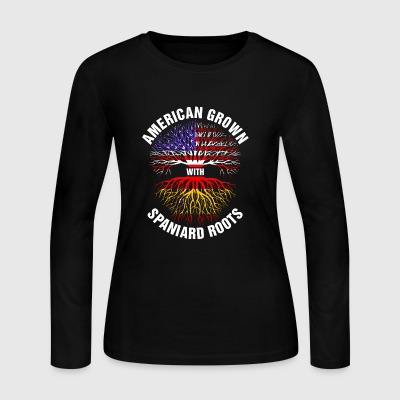 American Grown Spaniard Roots - Women's Long Sleeve Jersey T-Shirt