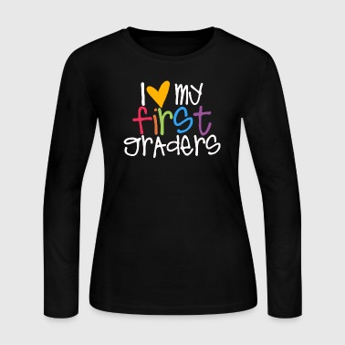 love my first graders teacher shirt - Women's Long Sleeve Jersey T-Shirt