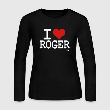 i love roger - Women's Long Sleeve Jersey T-Shirt