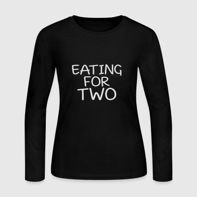 EATING FOR TWO - Women's Long Sleeve Jersey T-Shirt