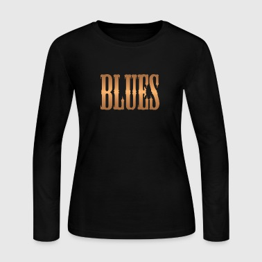 blues music copper - Women's Long Sleeve Jersey T-Shirt