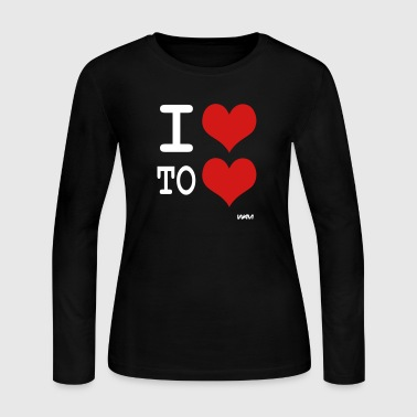 i love to love by wam - Women's Long Sleeve Jersey T-Shirt