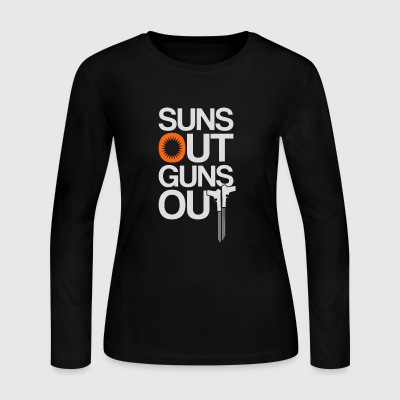 Suns Out Guns Out - Women's Long Sleeve Jersey T-Shirt