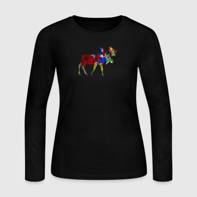 Moose Tee Shirt - Women's Long Sleeve Jersey T-Shirt