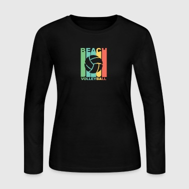 Vintage Beach Volleyball Graphic - Women's Long Sleeve Jersey T-Shirt