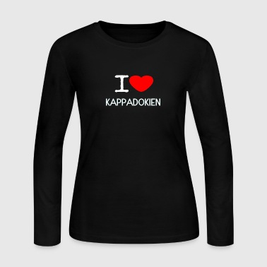 I LOVE KAPPADOKIEN - Women's Long Sleeve Jersey T-Shirt