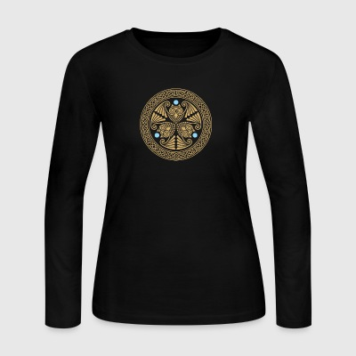Celtic 3 Owls - Women's Long Sleeve Jersey T-Shirt