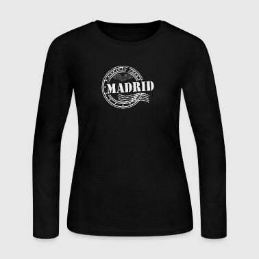Stamp Madrid - Women's Long Sleeve Jersey T-Shirt
