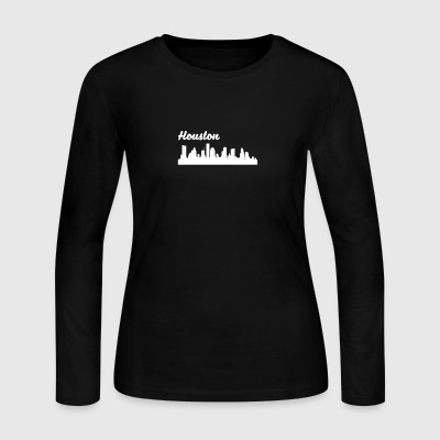 Houston TX Skyline - Women's Long Sleeve Jersey T-Shirt