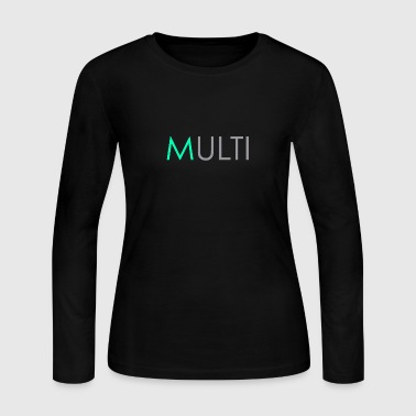 Aqua 'M' - Women's Long Sleeve Jersey T-Shirt