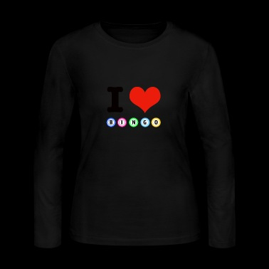 I love Bingo designs - Women's Long Sleeve Jersey T-Shirt