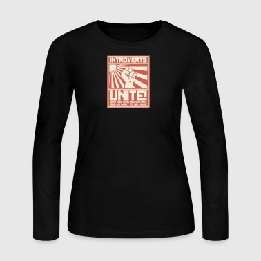 Introverts Unite - Women's Long Sleeve Jersey T-Shirt