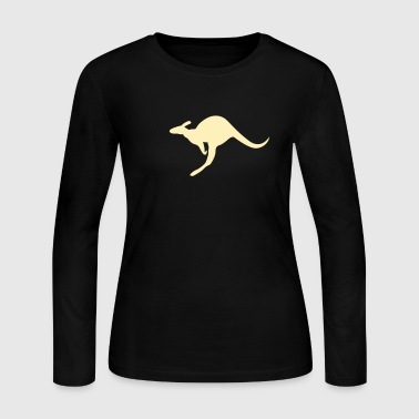 Kangaroo Roo joey boomer Australia outback wallaby marsupial jump bounce - Women's Long Sleeve Jersey T-Shirt