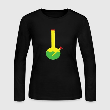 RASTA BONG WATER PIPE SLIDE INSERT STEM FILTERED - Women's Long Sleeve Jersey T-Shirt