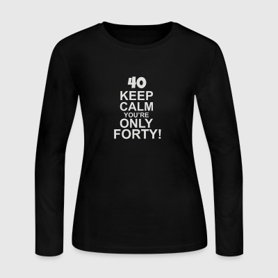 40th Birthday Present Forty - Women's Long Sleeve Jersey T-Shirt