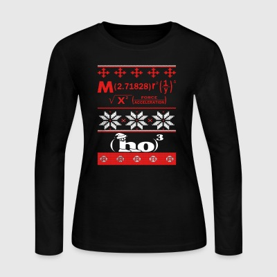 Math Christmas Shirt - Women's Long Sleeve Jersey T-Shirt