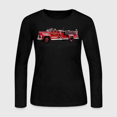 Antique Fire Engine - Women's Long Sleeve Jersey T-Shirt