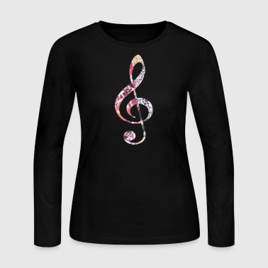 TREBLE CLEF - Women's Long Sleeve Jersey T-Shirt