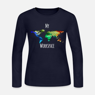 Workspace My workspace digital nomads colorful - Women's Jersey Longsleeve Shirt