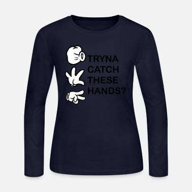 Mouse Catch these Hands - Women's Jersey Longsleeve Shirt