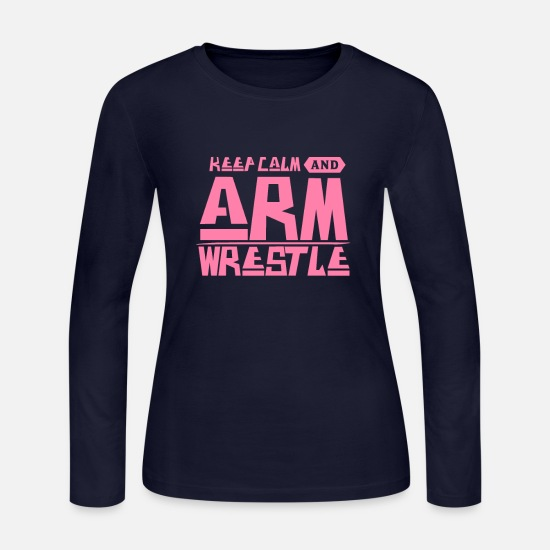 Fight Long-Sleeve Shirts - Arm Wrestle Arm Wrestle Arm Wrestle Arm Wrestle - Women's Jersey Longsleeve Shirt navy