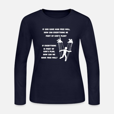 Twist Free man - How can we have a free will - mindfuck - Women's Jersey Longsleeve Shirt