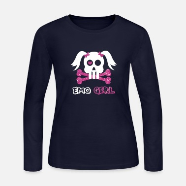 Emo Emo Girl - Women's Long Sleeve Jersey T-Shirt