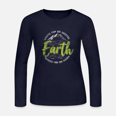 Humanity Earth inherited ancestors save climate love fight - Women's Jersey Longsleeve Shirt