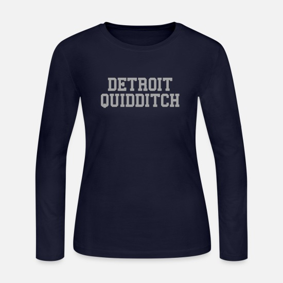 Women's Detroit Shirts Long-Sleeve Shirts - Detroit Quidditch - Women's Jersey Longsleeve Shirt navy