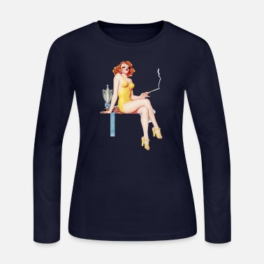 Page First Prize Pinup Girl - Women's Jersey Longsleeve Shirt