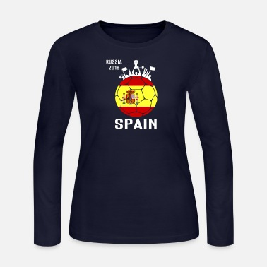 Spain Soccer Jersey World Shirt Cup Football Fan F - Women's Jersey Longsleeve Shirt