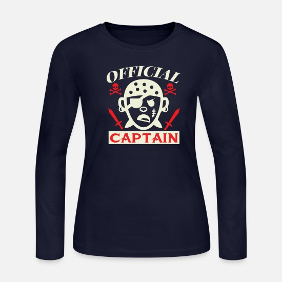 Pirate Long-Sleeve Shirts - Pirate - Women's Jersey Longsleeve Shirt navy