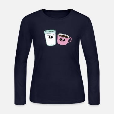 Milk milk coffee better together cup of tea present - Women's Jersey Longsleeve Shirt