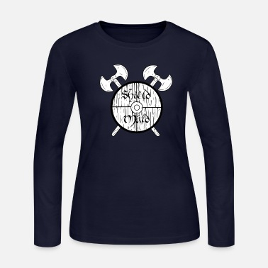 Shield Maid shield maid warrior odin thor barbar norsemen - Women's Jersey Longsleeve Shirt