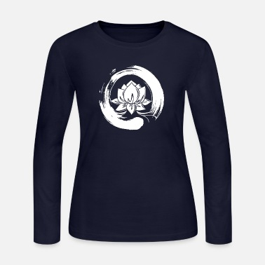 Enso Zen Circle Lotus Flower Symbol Buddhism Yoga - Women's Jersey Longsleeve Shirt