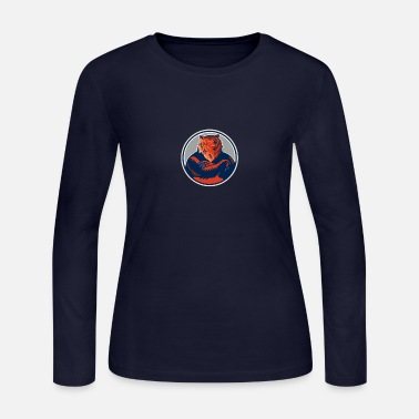 Russian Circles Russian Bear Arms Folded Circle Retro - Women's Jersey Longsleeve Shirt